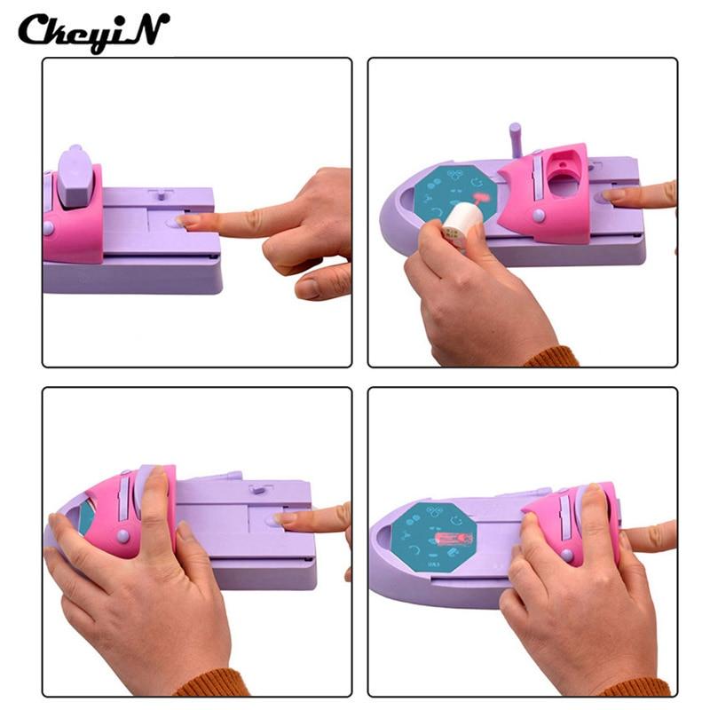 CkeyiN 1 Set Professional Nail Art DIY Pattern Printing Manicure Machine Stamp Stamper Tool Colors Drawing Polish Nail Printer  цены