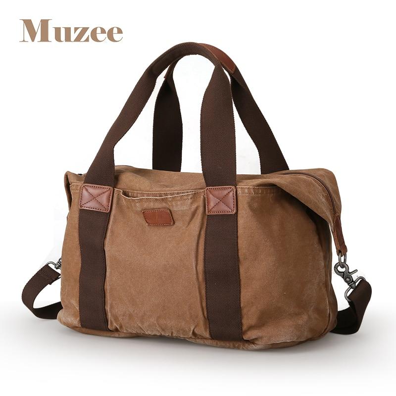 MUZEE Canvas Men Travel Bag Oversized Duffle Bag Large Capacity Tote Luggage bag Carry on Men