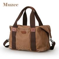 MUZEE Canvas Men Travel Bag Oversized Duffle Bag Large Capacity Tote Luggage bag Carry on Men Weekend bags Shoulder Handbag