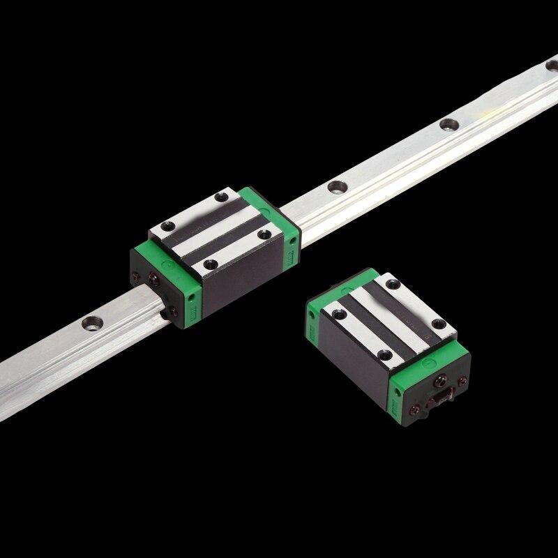3D imprimer pièces CNC machine linéaire rail slide 1 pc HGR20-L-100mm + 2 pcs HGH20CA transport