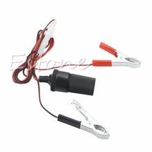 цена на B86 Free Shipping 12V Car Battery Terminal Clip-on Cigarette Lighter Power Socket Adapter Adaptor