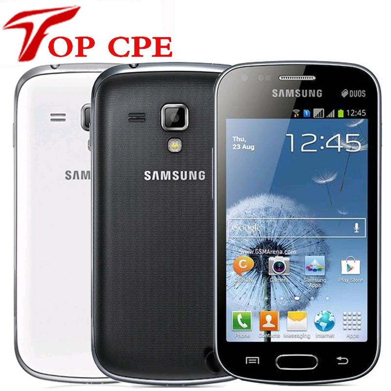 Оригинальные Сотовые телефоны Samsung S7562 Galaxy S Duos, камера 5 Мп, Wi-Fi, GPS, android 4,0, две sim-карты, восстановленные, Прямая поставка