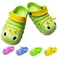 Venta caliente 3D de la Historieta Linda Orugas Niños Zapatillas Para Niños Bebés Niñas niños Zapatos de EVA Transpirables Sandalias del Deslizador de 3-11 Año