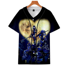 LUCKYFRIDAYF 3D Kingdom Hearts Print Women And Men Clothes 2018 Hot Sale Harajuku Short Sleeve Baseball T-ShirtTops Plus Size(China)
