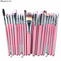20 pçs/set Moda Maquiagem Jogo de Escova ferramentas Make-up Kit de Higiene Pessoal Lã Make Up Brush Set Frete Grátis