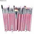20pcs/set Fashion Makeup Brush Set tools Make-up Toiletry Kit Wool Make Up Brush Set Free Shipping
