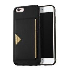 Для iphone 6S 4.7-дюймовый корпус dux DUCIS pocard серии Слот для карты pu кожа ТПУ чехол для телефона iPhone 6/6S 4.7-дюймовый-черный