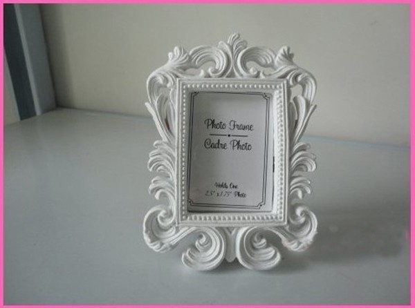 cheap wholesale white baroque photo frame 100pcslot wedding place card holder free shipping picture