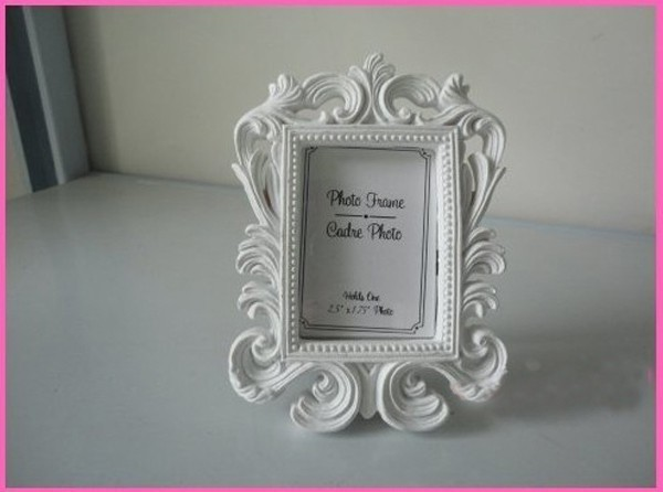 Cheap Wholesale White Baroque Photo Frame 100pcslot Wedding Place