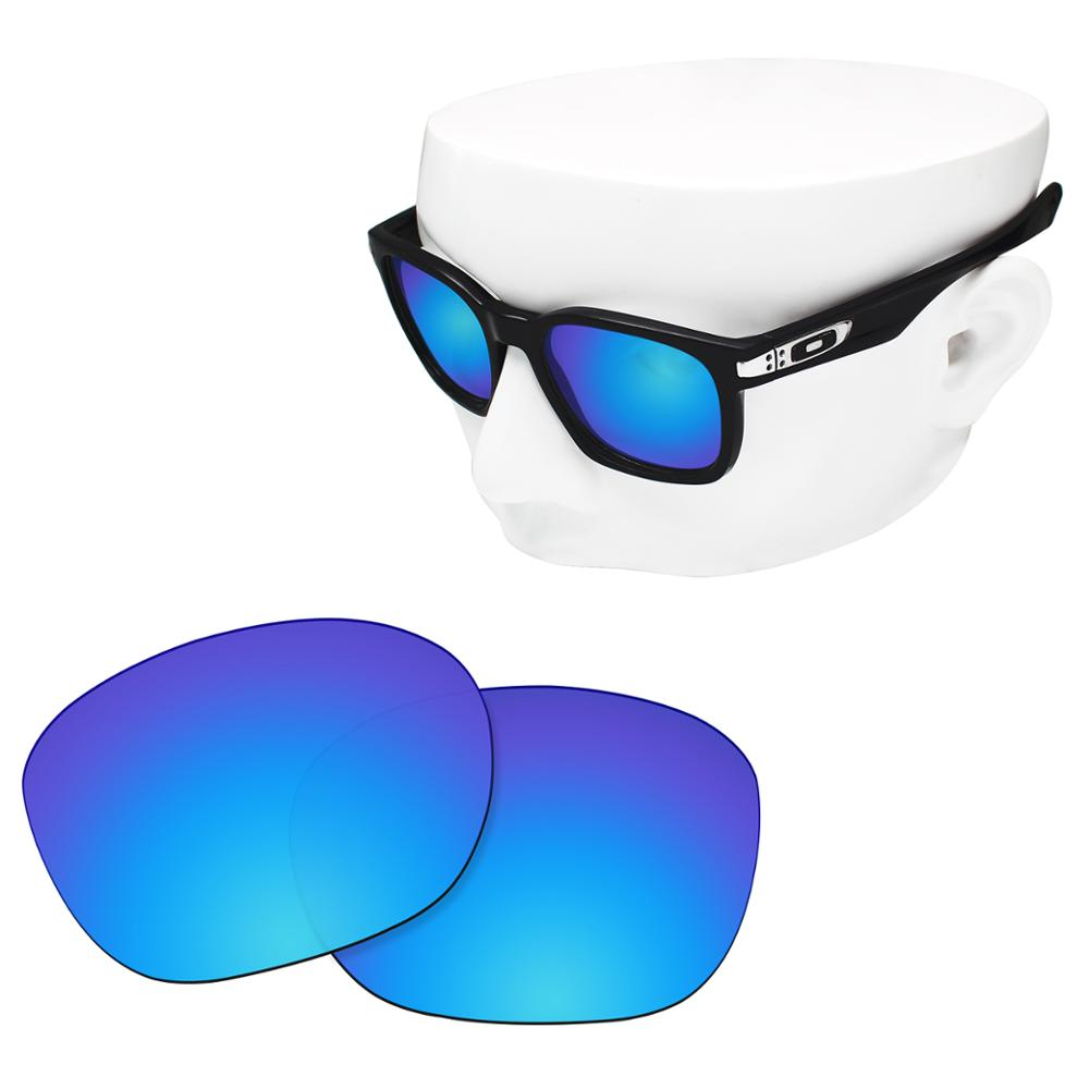 OOWLIT Polarized Replacement Lenses Of Blue Mirror For-Oakley Garage Rock OO9175 Sunglasses