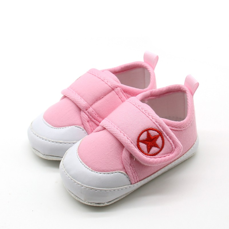 Baby Solid Cute Shoes Newborn Fashion Canvas First Walkers Unisex Boys Girls Lovely Shoes All Season