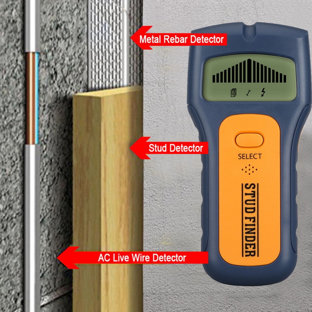 Electric Stud Finder With Sound Warning For Wood Stud//AC Wire//Metal Detector,