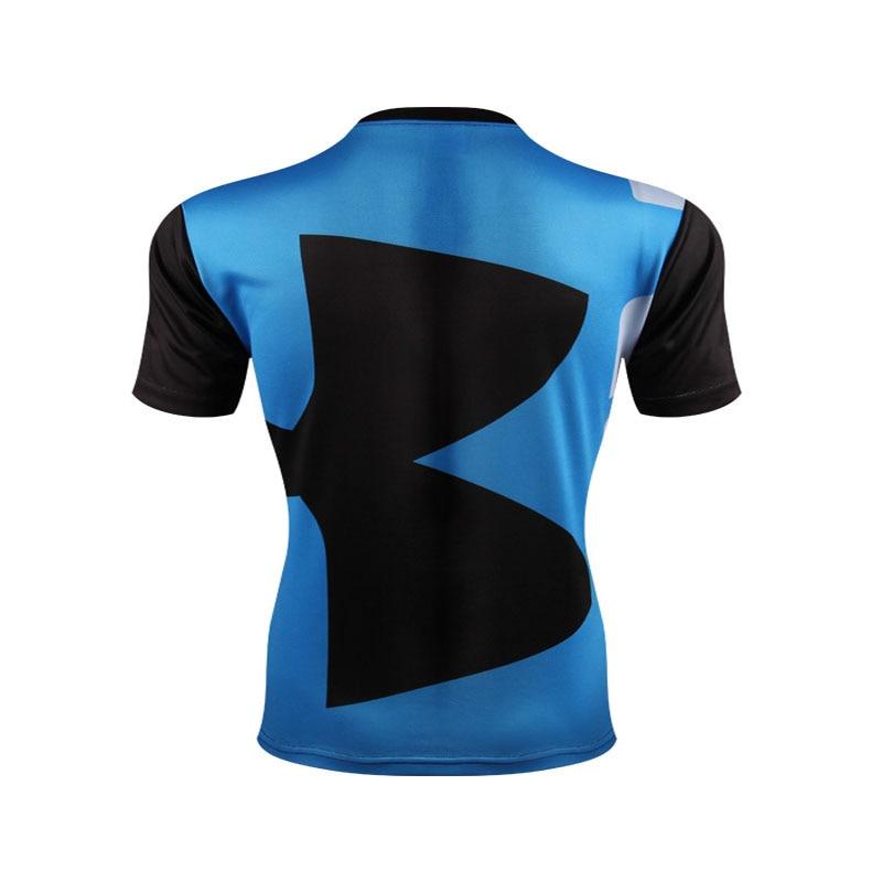 Korkealaatuinen polyesteri-3D-painetut T-paidat Miesten - Miesten vaatteet - Valokuva 5