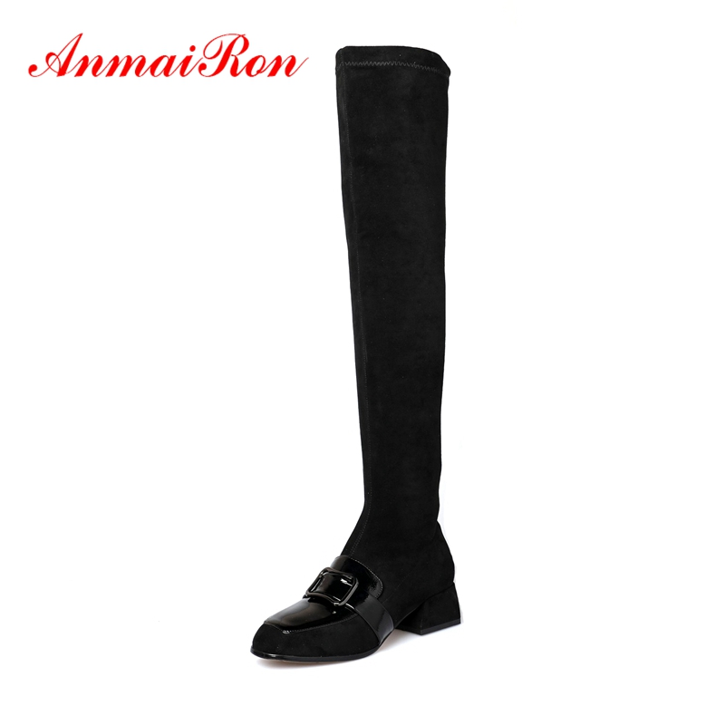 AnmaiRon  Basic  Zip  Over-the-Knee  Boots Women  Shoes Woman  Botas Mujer Invierno  Zapatos De Mujer Size 34-39 ZYL1507AnmaiRon  Basic  Zip  Over-the-Knee  Boots Women  Shoes Woman  Botas Mujer Invierno  Zapatos De Mujer Size 34-39 ZYL1507