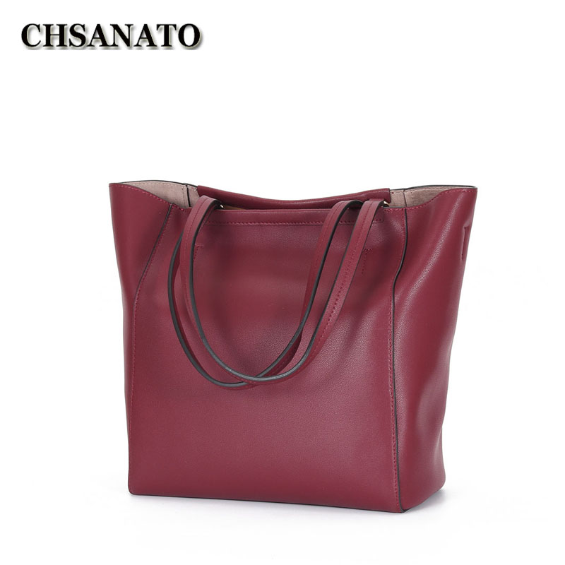 3 Color 100 Genuine Women Leather Handbag Famous Brand Europe Luxury Real Leather Lady Fashion Shoulder