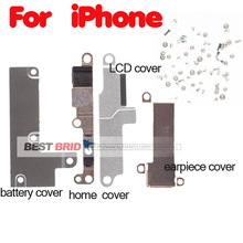 1set For iPhone 5 5S 6 6S 7 8 Plus home Lcd battery earpiece Small Metal Internal Bracket metal parts +full set screws
