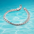 men silver bracelet 2014 new solid genuine 925 sterling silver men's bracelet