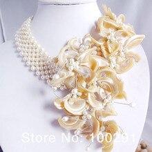 5-20-0748# Модный жемчужный браслет с цветком, африканские Свадебные украшения