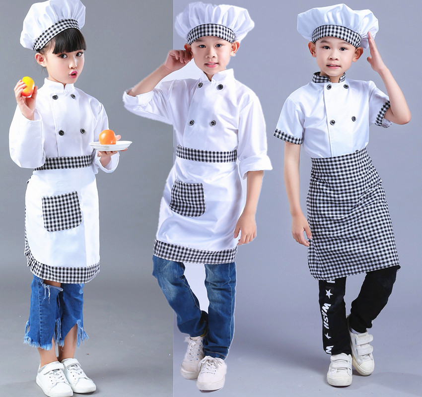 School Game Costume Cooking Clothing Children Chef Uniform For Party