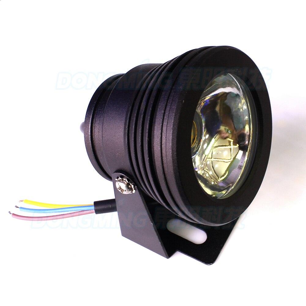 Led Underwater Lights Intellective 4pcs Flat Lens Underwater Pool Light Dc 12v 10w Led Underwater Lamp Boat White/warm White Underwater Lighting