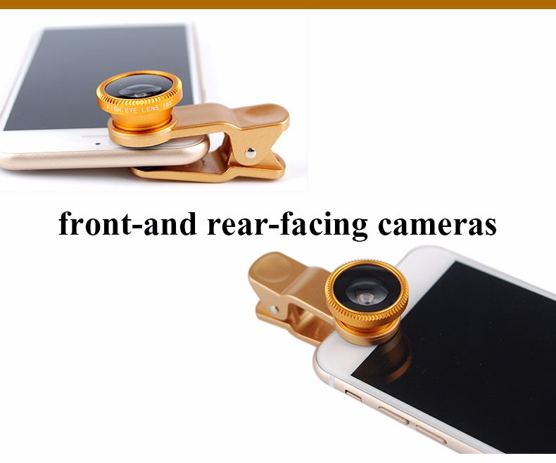 New Fish Eye lens,Wide Angle + Clear Macro Lens For Iphone 5s 6 7 Universal 3 in 1 Phone Camera Len For Sansung Huawei Sony HTC 14