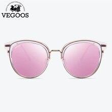 VEGOOS Polarizados Rodada Do Olho de Gato Óculos De Sol Das Mulheres Lente  TAC Grife Turismo Festa Moda Retro óculos de Sol Ócul. dc2c9ae93b