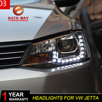 Car Styling Headlights Case For VW Jetta 2012 2017 Car Led Lights Double Xenon Lens Car Accessories Daytime Running Lights