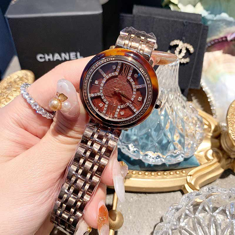 2019 Fashion Top Brand Luxury Fully Diamond Women Watches Quartz Waterproof Stainless Steel Fritillaria Wrist Watches For Women in Women 39 s Watches from Watches