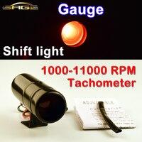 Drago Calibro Calibro di Automobile Regolabile 1000-11000 RPM Tacho Shift Luce Contagiri Rosso/Blu LED In Alluminio Nero/Coperture d'argento