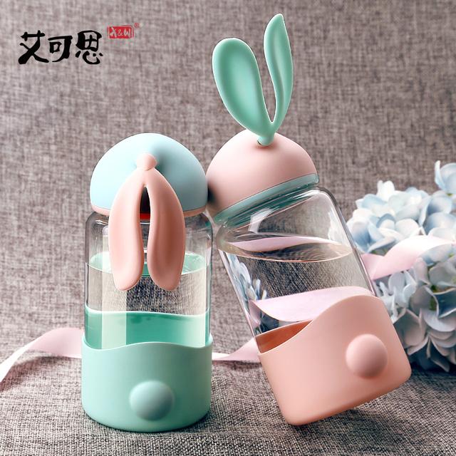 Cute Rabbit Glass Cup 340ml