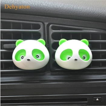 2pcs Car Perfumes Air Conditioner Vent Outlet Air Freshener 100 original Fragrance Car styling Accessories Panda Eyes Will Jump image