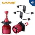 Auxmart LED Headlight Kit H4 High Low Dipped Beam Car LED Light Bulb Auto Head Lamp 6500k Canbus System H4 Free Error Kit