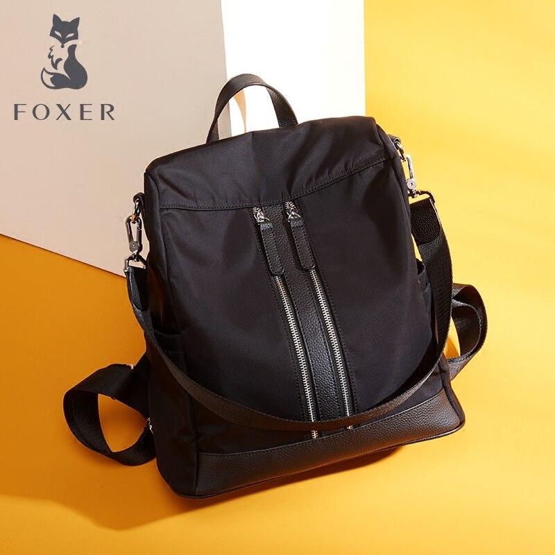 FOXER Brand Backpack Female New Fashion Women Nylon Oxford Backpack School Bags For Teenage Girls Practical Functional Travel