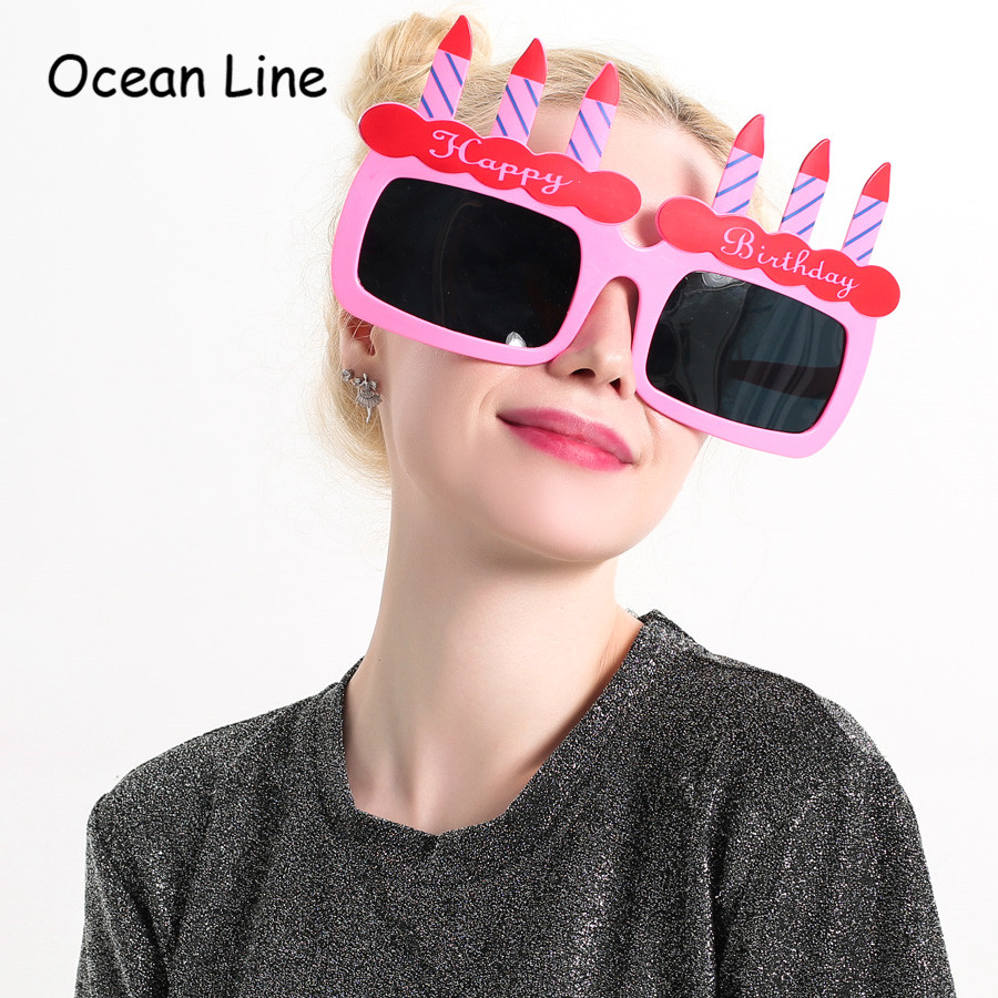 Funny Giant Birthday Cake Candles Happy Props Glasses Novelty Costume Sunglasse Girl Gifts Party Supplies Decoration In Favors From Home