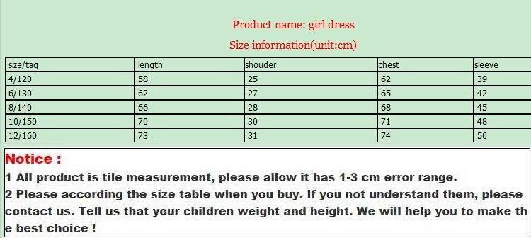 New spring autumn girls dress full sleeve flower dress for school girls kids princess dress children teenagers clothes 4-12T
