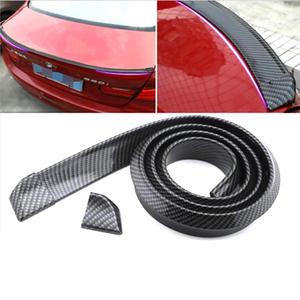 Image 4 - Universal nachahmung Carbon Faser Auto Hinten Dach Spoiler Stamm lip Flügel Auto Boky kit Trim Motor Shields 1,5 meter