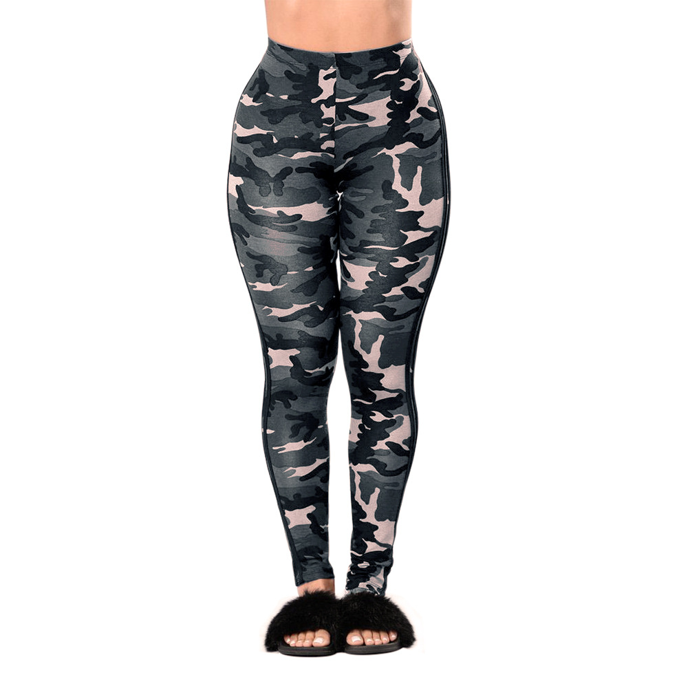 a686d88a0ddfd Camouflage Stripe Plus Size Push Up Leggings Women Thin High Elastic Waist  Fitness Thin Workout Pants Quick drying Wear Trousers-in Leggings from  Women's ...