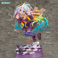 Shiro NO GAME NO LIFE GAME LIFE White 3 Generation Poker 1/8 Action Toy Figures Japanese Anime Figure Collectible Figurines Hot