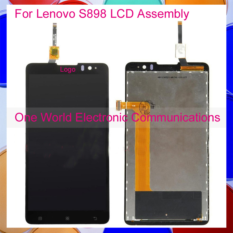 ФОТО Black For Lenovo S898 S898T Full LCD Screen Display Digitizer With Touch Screen Complete Assembly Tracking Code Free Shipping