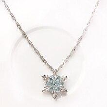 Women Fashion Shiny Rhinestone Snowflake Pendant Short Chain Choker Necklace