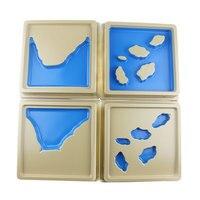 Montessori Geography Land and Water Plastic Montessori Educational Toys For Children Preschool Montessori Materials MG2665H
