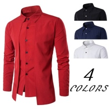 ZOGAA Hot Selling High Quality Men Slim Shirt 100% Cotton Mens Fashion Business Casual Pure 4 Color