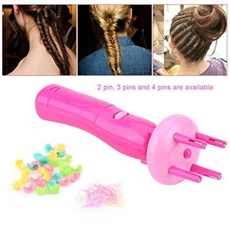 Das Beste Dame Frauen Mädchen Tragbare Elektrische Automatische Diy Frisur Werkzeug Braid Maschine Haar Weben Roller Twist Flechter Gerät Kit