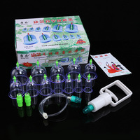 New Chinese Medical 12 Cups Vacuum Body Cupping Set Portable Massage Therapy Kit Massage Relaxation