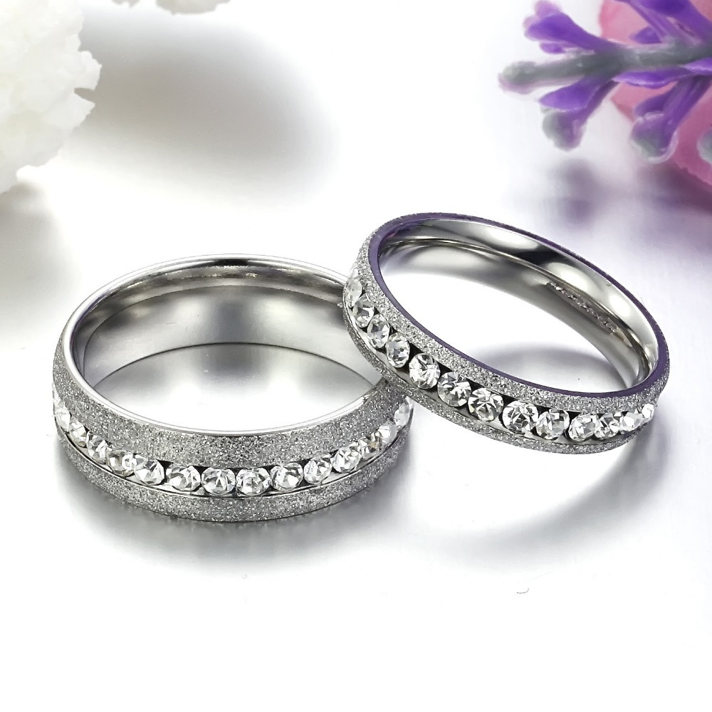 TrustyLan Vintage CZ Crystal Engagement Couple Rings For Men And