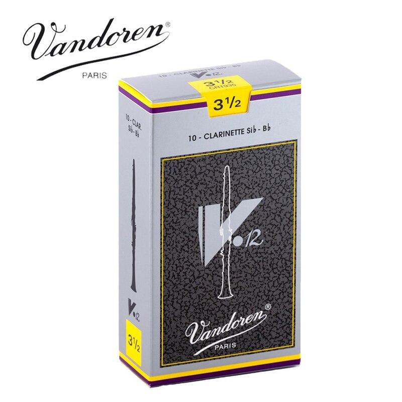 Original France Vandoren V12 Bb Clarinet Reeds / Clarinette Sib-Bb Reeds Strength 2.5#, 3#, 3.5#  Box of 10 vandoren cm307 cm308 cm3088 b45 traditional bb clarinet mouthpiece clarinet sib bb mouthpiece