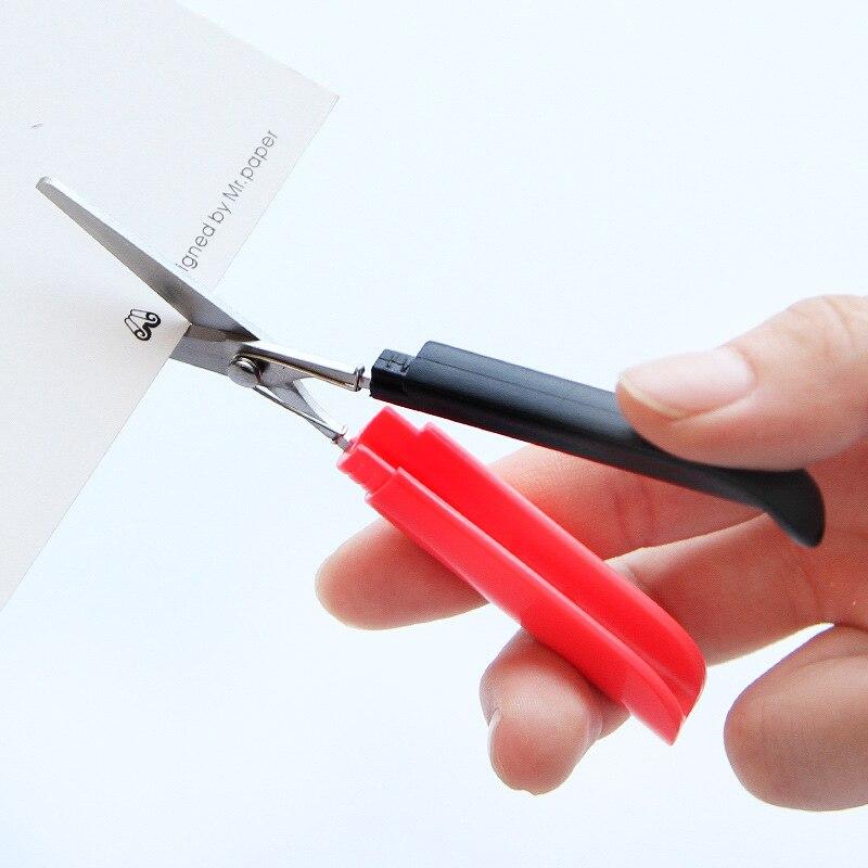 Candy Hidden Creative Pen Design Student Safe Scissors Paper Cutting Art Office School Supply with Cap Kids Stationery DIY Tool