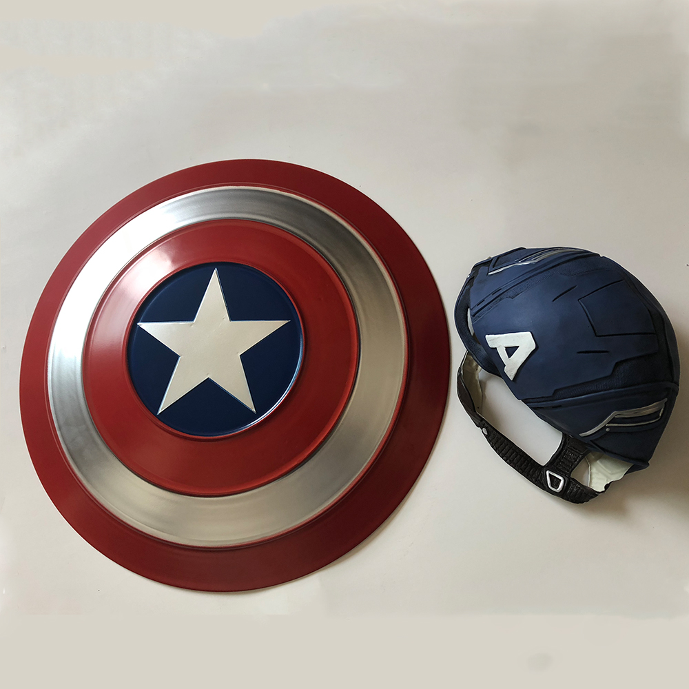 Captain America Shield Cosplay Avengers Endgame Captain America Costume Accessory Steve Rogers Shield Halloween Party Props5