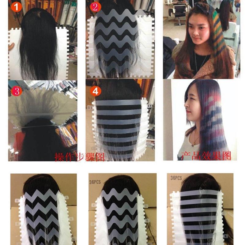 Professional Salon Hair Dye Plastic Printing Plate Diy Wave Strip
