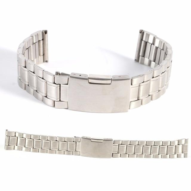 Per Il Tempo Libero Cinturini In Acciaio Inox Watch Band Strap Etero Scatta Brac
